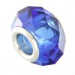 Großlochperle, 13mm, rund, royalblau