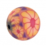 Fimoperle, 12mm, rund, rosa
