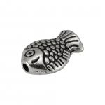 """Metallperle """"Fisch"""", 10X7mm, silberfarben"""