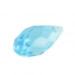 Glasschliffperle, Tropfen, 12X6mm, hellblau