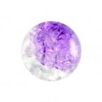Glasperle in Kristalloptik, 10mm, rund, violett