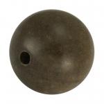 Holzperle (Grey Wood), 15mm, rund, walnussbraun