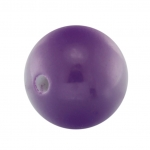 Kunststoffperle, 12mm, rund, dunkelviolett