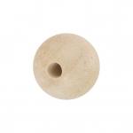 Holzperle (White Wood), 6mm, rund, eierschalen wei�
