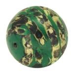 Designerperle mit Napiergras, 25mm, dunkelgrün