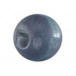 Holzperle (10 Stück), 10mm, blau-grau