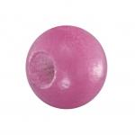 Holzperle (10 Stück), 10mm, pink