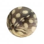 Designerperle mit Federn, 15mm, eierschalen wei�
