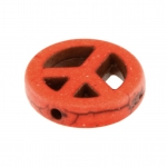Motivperle, 15mm, Peace, orange