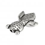 """Metallperle """"Fisch"""", 15X10mm, silberfarben"""