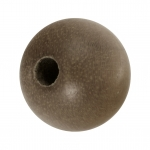 Holzperle (Grey Wood), 12mm, rund, walnussbraun