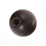 Holzperle (Tiger Ebony Wood / Ebenholz), 8mm, rund, dunkelbraun