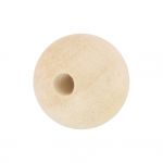 Holzperle (White Wood), 8mm, rund, eierschalen wei�