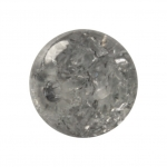 Kristallperle aus Glas, 10mm, grau