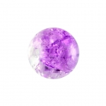 Glasperle in Kristalloptik, 8mm, rund, lila-transparent