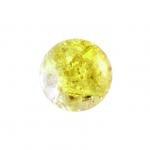 Glasperle in Kristalloptik, 8mm, rund, gelb-transparent