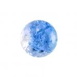 Glasperle in Kristalloptik, 8mm, rund, blau-transparent