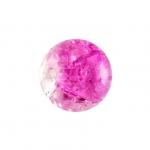 Glasperle in Kristalloptik, 8mm, rund, pink-transparent