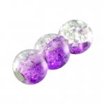 Glasperle in Kristalloptik, 6mm, rund, lila-transparent