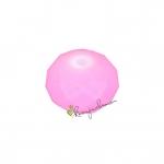 Glasschliffperle, briolette, 8X6mm, rosa