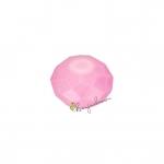 Glasschliffperle (emailliert), briolette, 6X4mm, rosa
