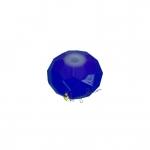 Glasschliffperle (emailliert), briolette, 6X4mm, blau