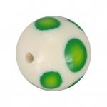 Fimoperle, 11mm, rund, weiß