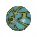 Fimoperle, 11mm, rund, türkis