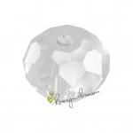 Glasschliffperle, briolette, 12X9mm, transparent