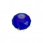 Glasschliffperle (emailliert), briolette, 8X6mm, blau