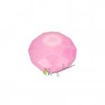 Glasschliffperle (emailliert), briolette, 8X6mm, rosa