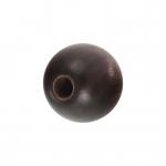 Holzperle (Tiger Ebony Wood / Ebenholz), 6mm, rund, dunkelbraun