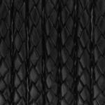 Geflochtenes Lederband, 20cm, 10mm breit, schwarz
