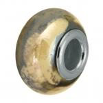Keramik-Großlochperle (emailliert), 16mm, sand