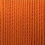Geflochtenes Kunstlederband, 100cm, 3mm breit, neonorange