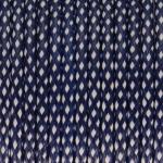 Gewachstes Schmuckband (50cm), 4mm breit, blau-wei�