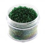 Delica, 20g, 6-kantig (hexagon), 1,5X1,2mm, dunkel grün