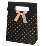 Geschenkverpackung 'Polkadots', schwarz