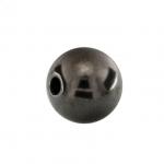 Perle, 8mm, rund, dunkel grau metallic