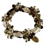 Armband aus Edelsteinen (Rauchquarz), 19cm, walnussbraun