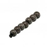 Perle (10 Stück), 2,8mm, rund, dunkel grau metallic