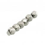 Perle (10 Stück), 3,5mm, rund, silberfarben