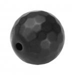 Hematit Perle, 12mm, schwarz matt