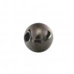 Perle (5 Stück), 6mm, rund, dunkel grau metallic