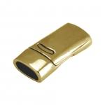Magnetverschluß, 26X13mm, Loch-Ø 10X5mm (oval), goldfarben