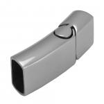 Edelstahlverschluß, 32X14mm, Loch-Ø 12X6mm, silberfarben
