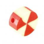 Fimoperle, 10mm, rund, eierschalen weiß