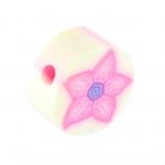 Fimoperle, 10mm, rund, weiß