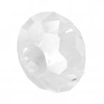 Großlochperle, 14mm, rund, transparent