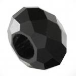 Großlochperle, 13mm, rund, schwarz